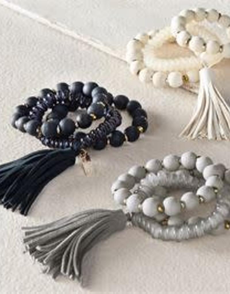 MudPie MudPie Tassel Bracelet (Set)