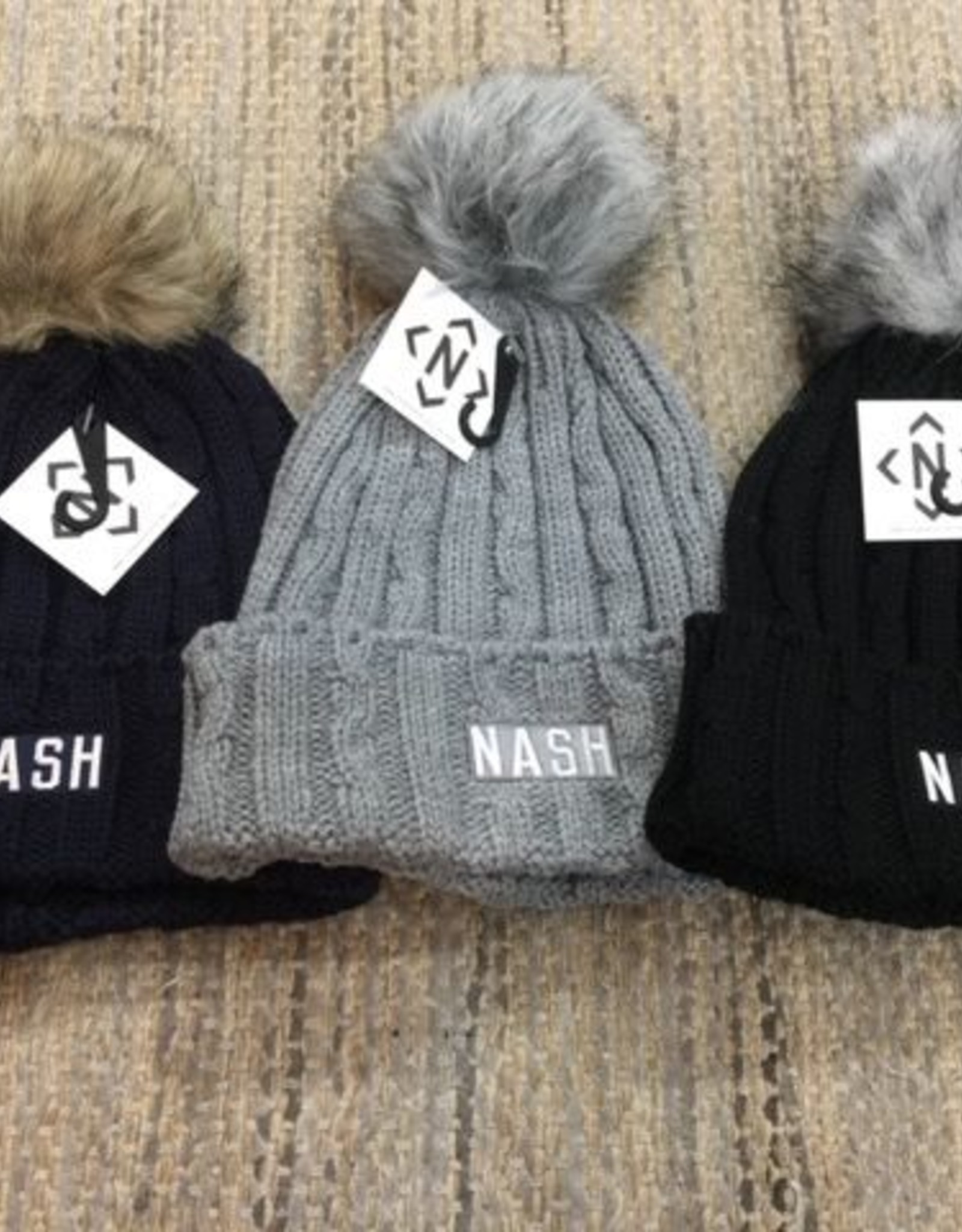 NASH Nash Collection PomPom Beanie