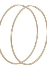 "ENewton Design ENewton Designs- Oval Rose Gold 2"" Hoop"