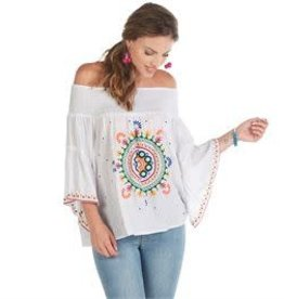 MudPie MudPie Teddi Embroidered Top