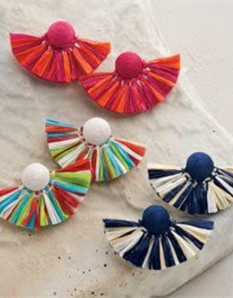 MudPie MudPie Raffia Fan Earrings