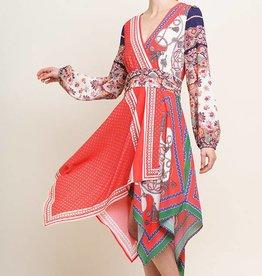 Umgee Hankerchief Dress