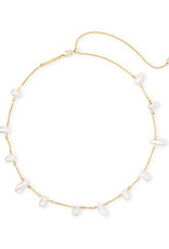 Kendra Scott Kendra Scott Krissa Necklace Gold Baroque Pearl