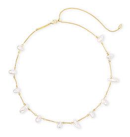 Kendra Scott Kendra Scott Krissa Necklace Gold Baroque Pearl