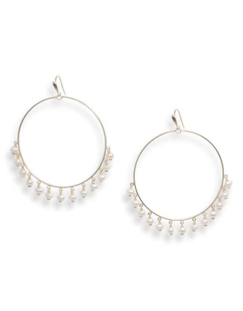Kendra Scott Kendra Scott Earrings Hilty Gold Baroque Pearl