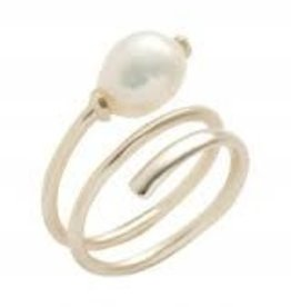 Kendra Scott Kendra Scott ring Jayla Gold Baroque Pearl CZ SM