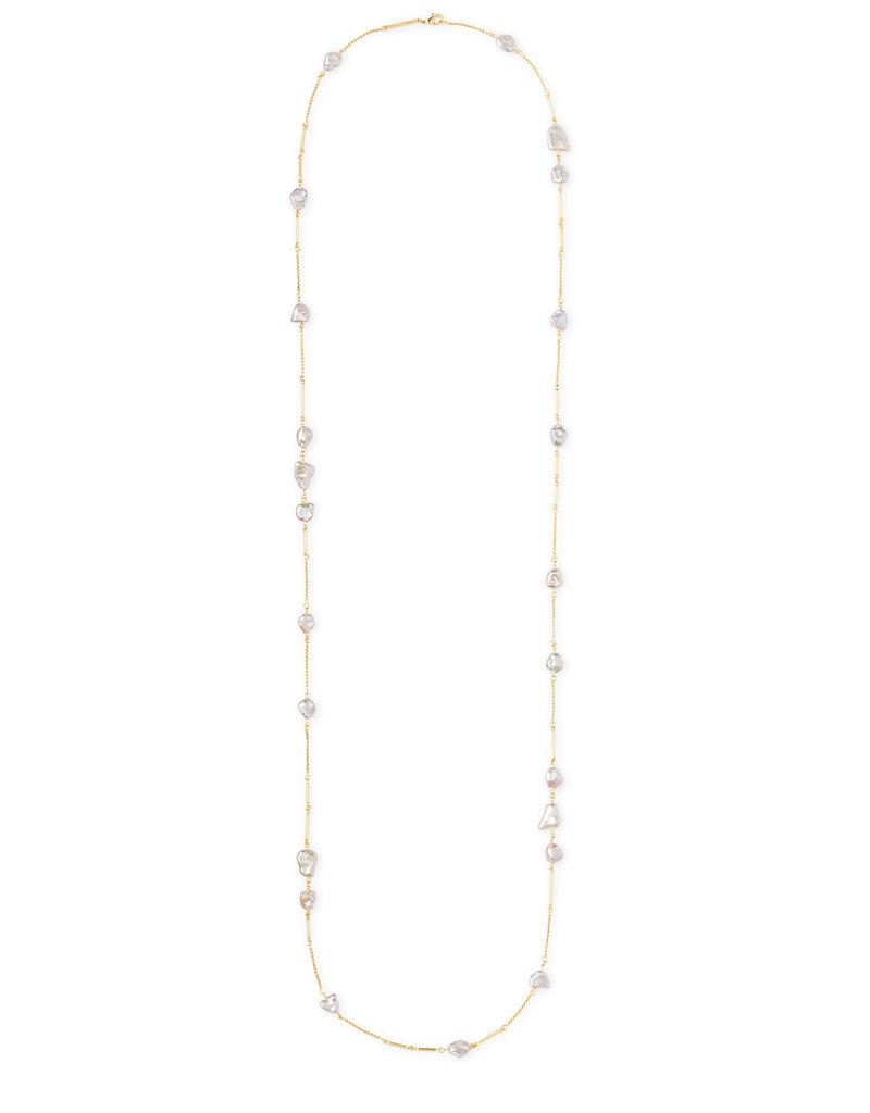 Kendra Scott Kendra Scott Long Necklace Sabrina Gold Baroque Pearl
