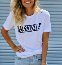 NASH The Nash Collection- NASHVILLE Distressed Tshirt