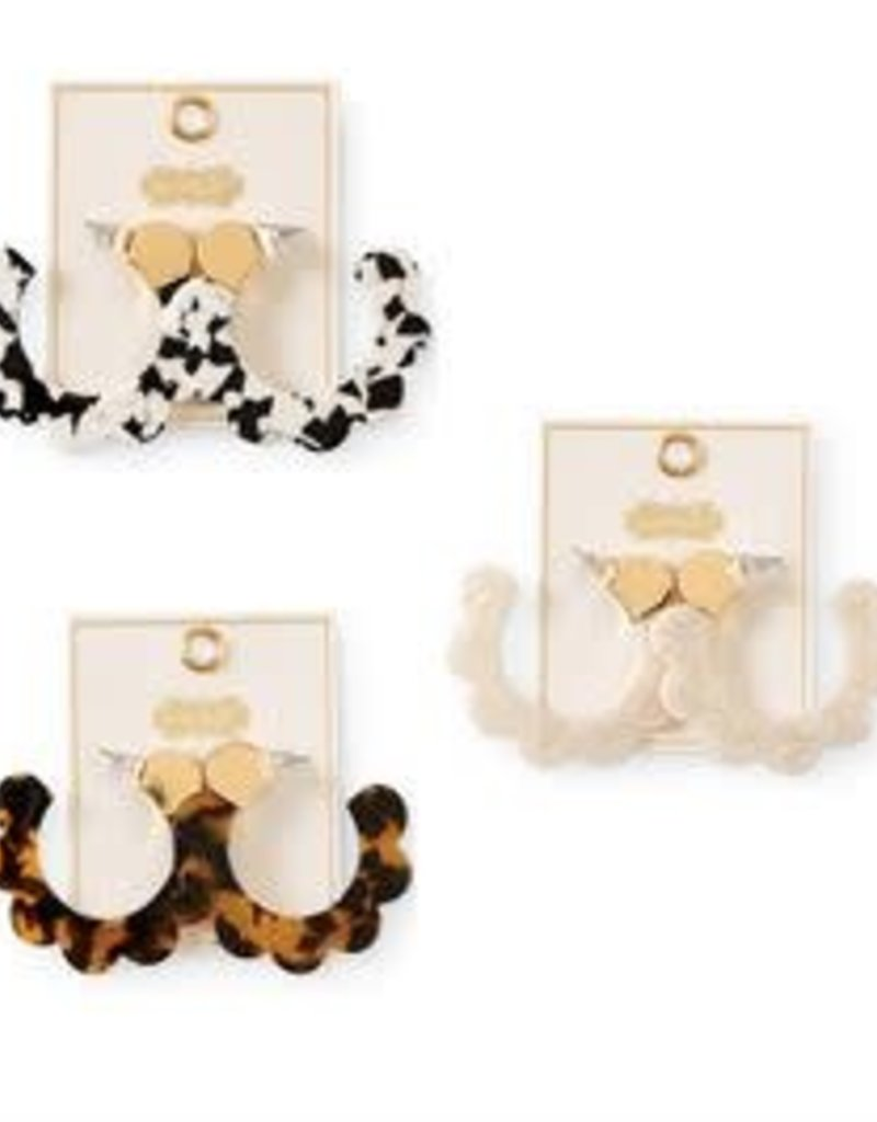 MudPie MudPie Scalloped Resin Earring