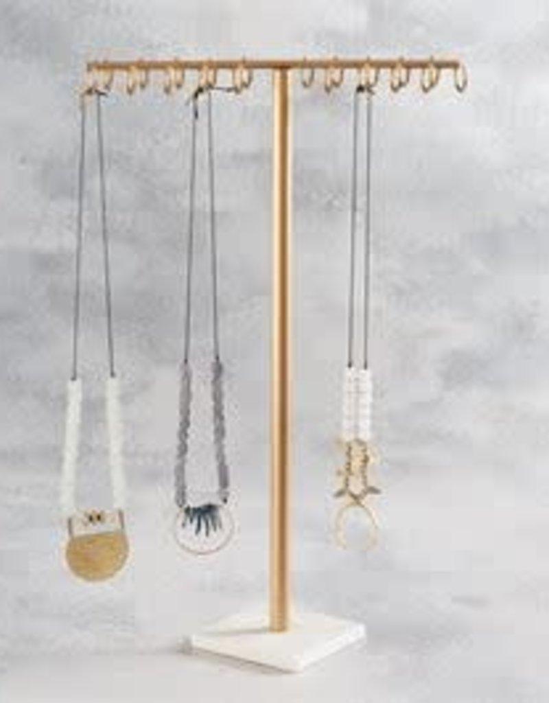 MudPie MudPie Hammered Plate Necklace