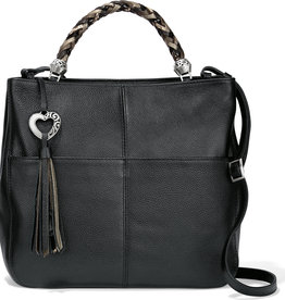 Brighton Brighton Handbag Bahamas Handled Tote- Black/Neutral