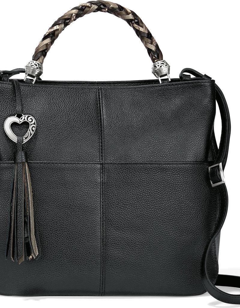 Brighton Brighton Handbag Bahamas Handled Tote- Black/Neutral