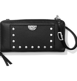 Brighton Brighton Wallet Pretty Tough Rox Large Zip Black