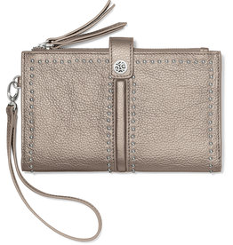 Brighton Brighton Wallet Pretty Tough Double Zip- Zinc