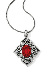 Brighton Brighton Necklace Alcazar Blaze Convertible- Silver/Red