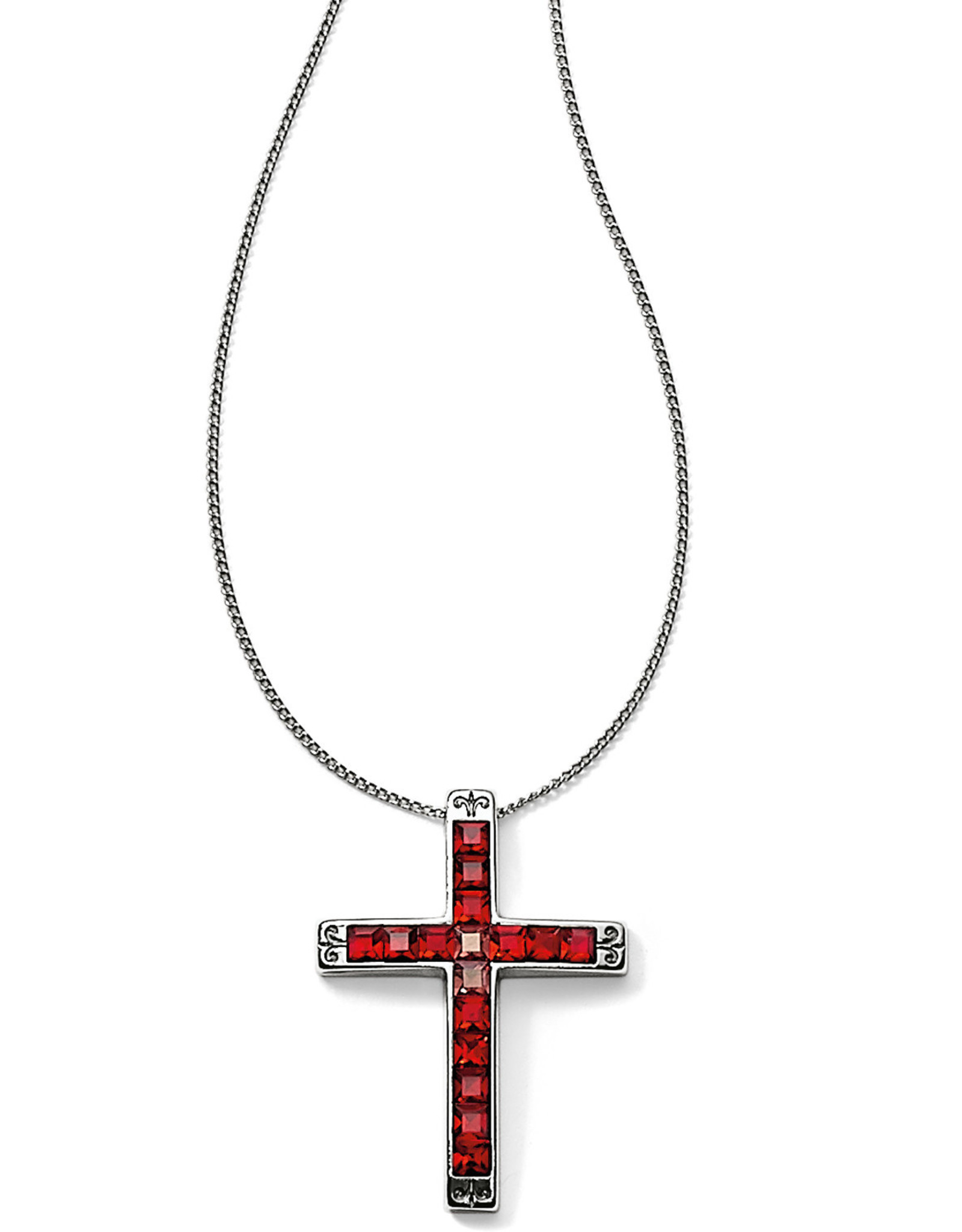 Brighton Brighton Necklace Spectrum Cross- Red