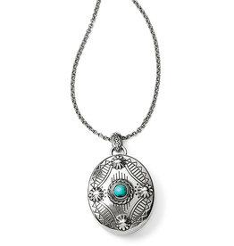 Brighton Brighton Necklace Southwest Dream Oval Locket Silver-Turquoise