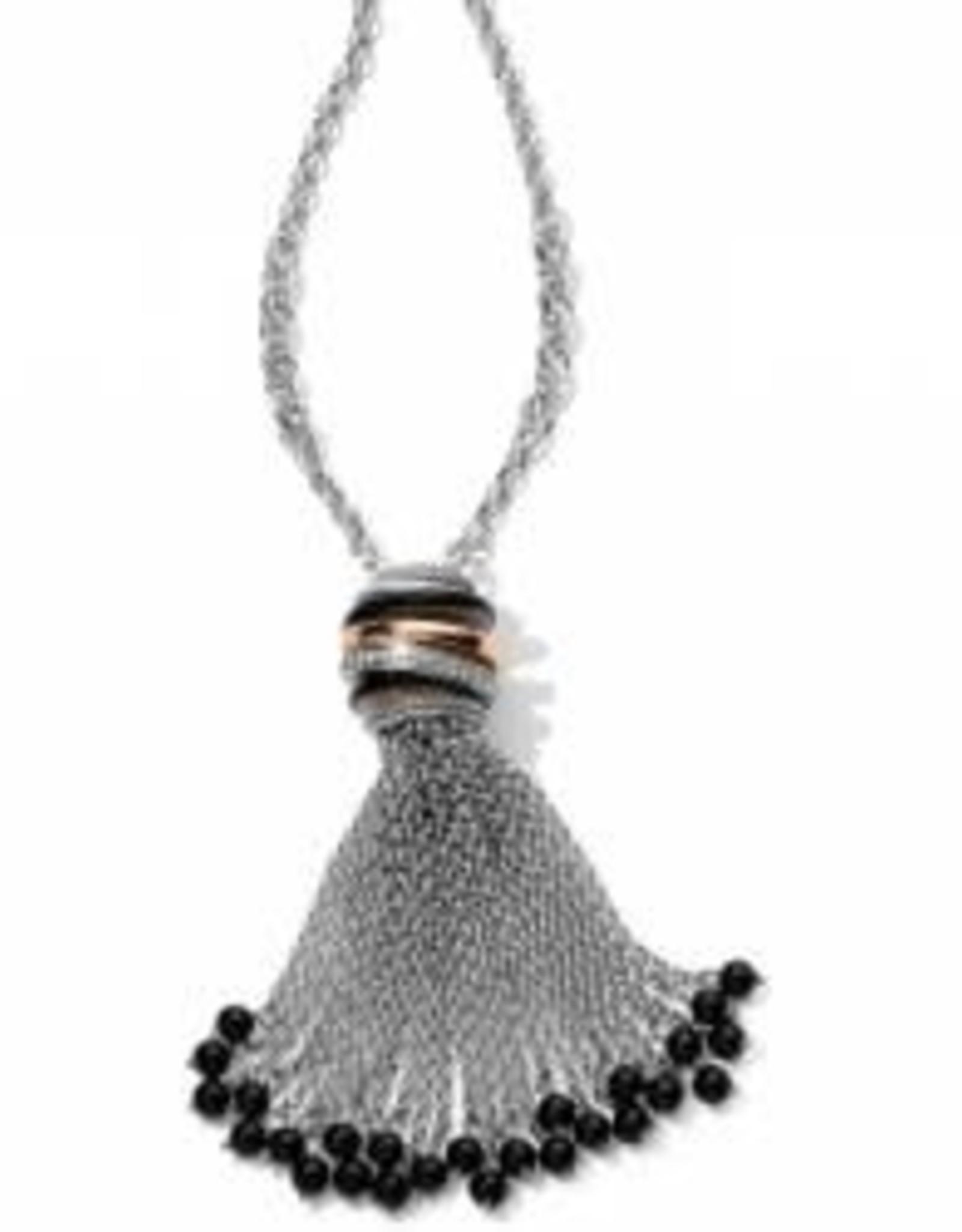 Brighton Brighton Neptune's Rings Black Tassel Necklace
