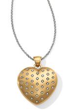 Brighton Brighton Necklace Sweetheart Convertible Locket- Gold/Silver