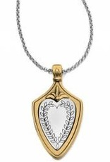Brighton Brighton Necklace Medaille Crest Silver/Gold