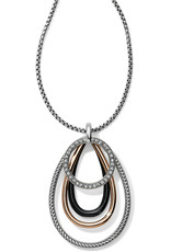 Brighton Brighton Necklace Neptune's Rings Convertible-Black/Silver/Gold