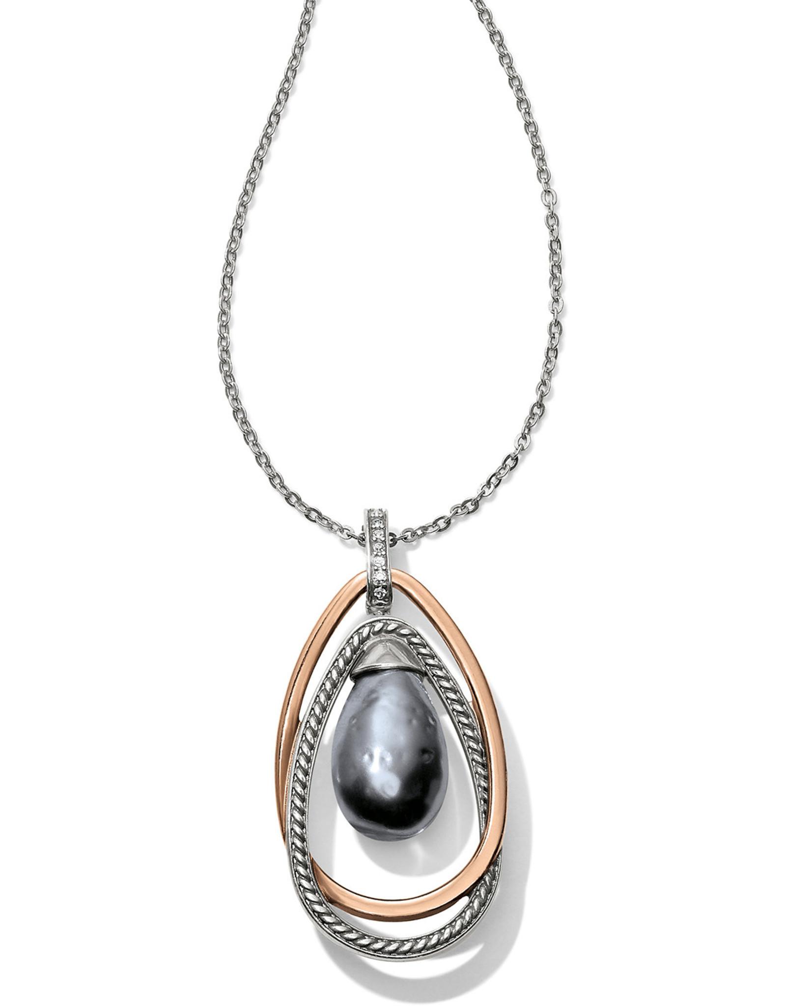 Brighton Brighton Neptunes Rings Gray Pearl Pendant Necklace