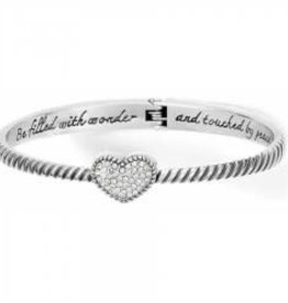 Brighton Brighton Celestia Heart Hinged Bangle Bracelet