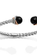 Brighton Brighton Bracelet Neptune's Rings Open Hinged-Black Agate