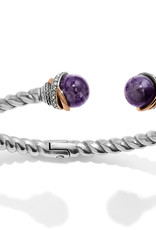 Brighton Brighton Bracelet Neptune's Rings Open Hinged-Amethyst