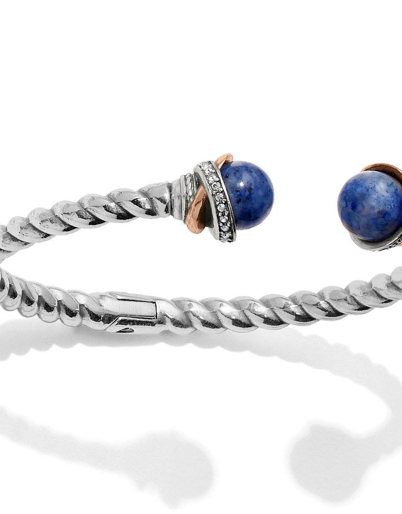 Brighton Brighton Bracelet Neptune's Rings Open Hinged-Brazil Blue Quartz