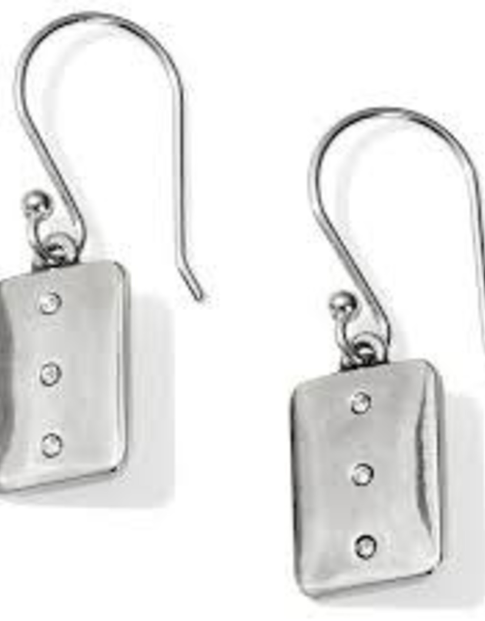 Brighton Brighton Contempo Ice Reversible Tile French Wire Earrings