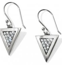 Brighton Brighton Contempo Ice Reversible Triangle French Wire Earrings