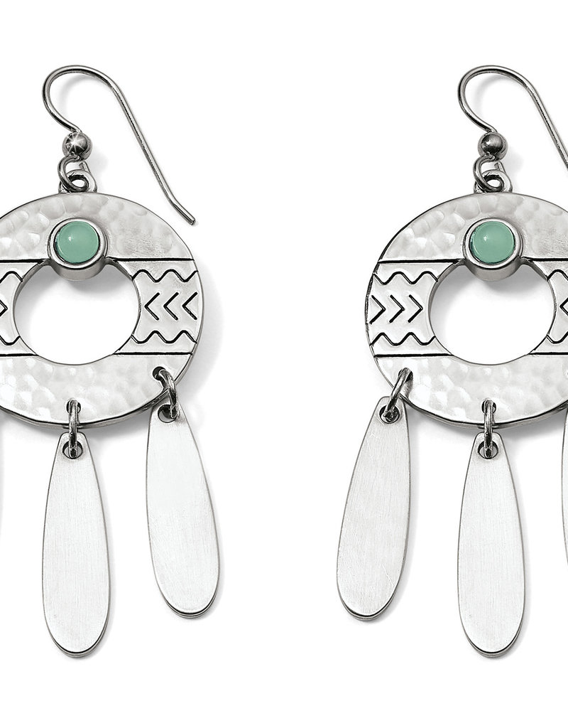 Brighton Brighton Earrings Marrakesh French Wire Silver and Green