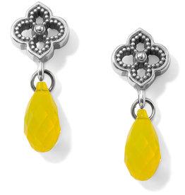 Brighton Brighton Earrings Toledo Alto Briolette Post Drop- Yellow