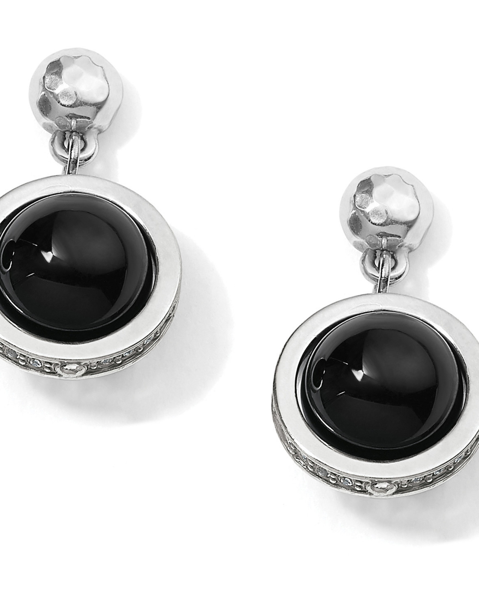 Brighton Brighton Earrings Chara Ellipse Spin Post Drop-Black
