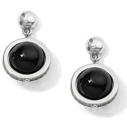 Brighton Brighton Earrings Chara Ellipse Spin Post Drop-Black
