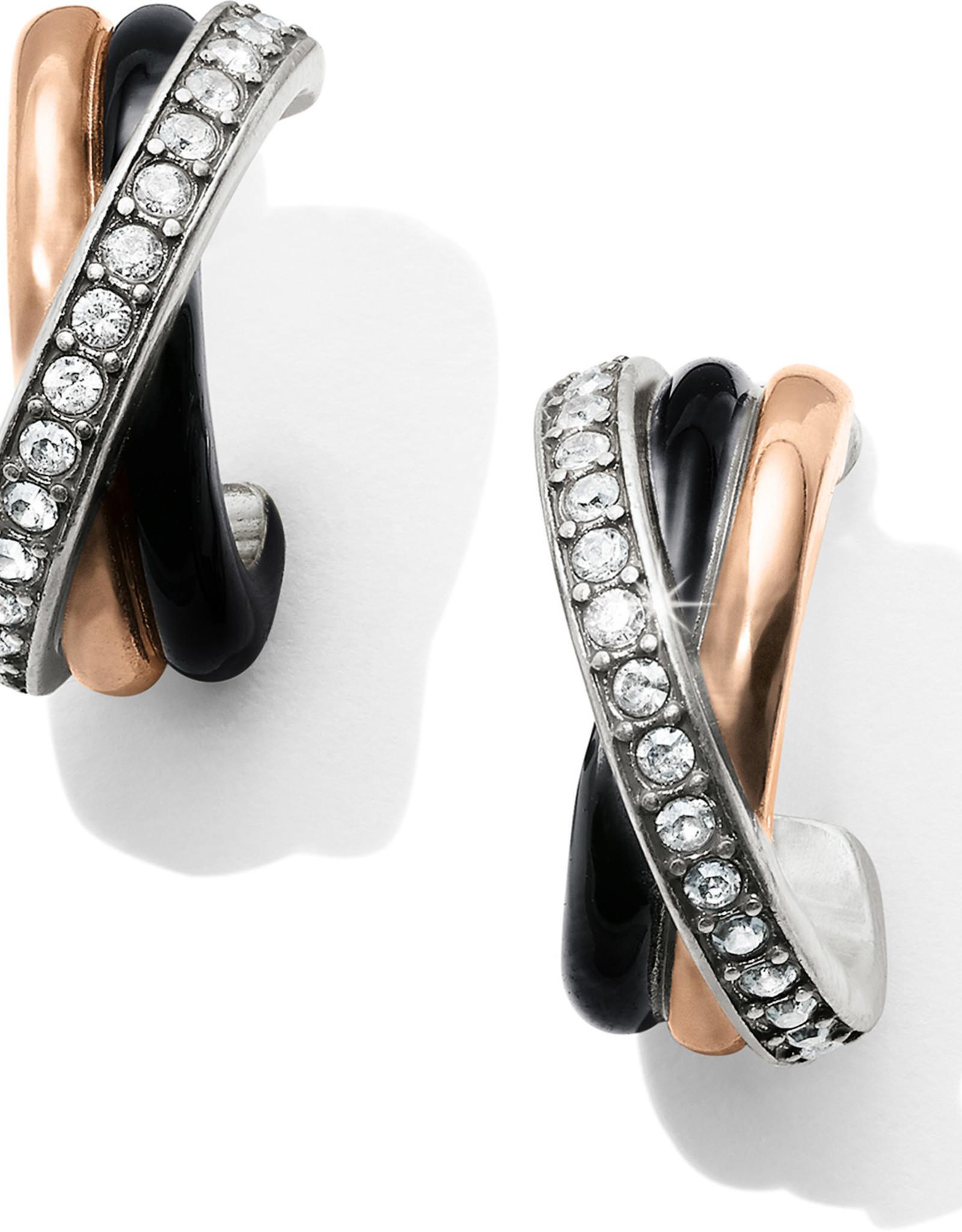 Brighton Brighton Earrings Neptune's Ring Post Clip- Black/Silver/Gold