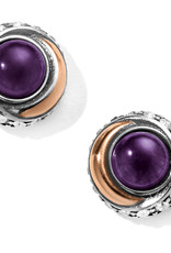 Brighton Brighton Earrings Neptune's Rings Button Post- Amethyst