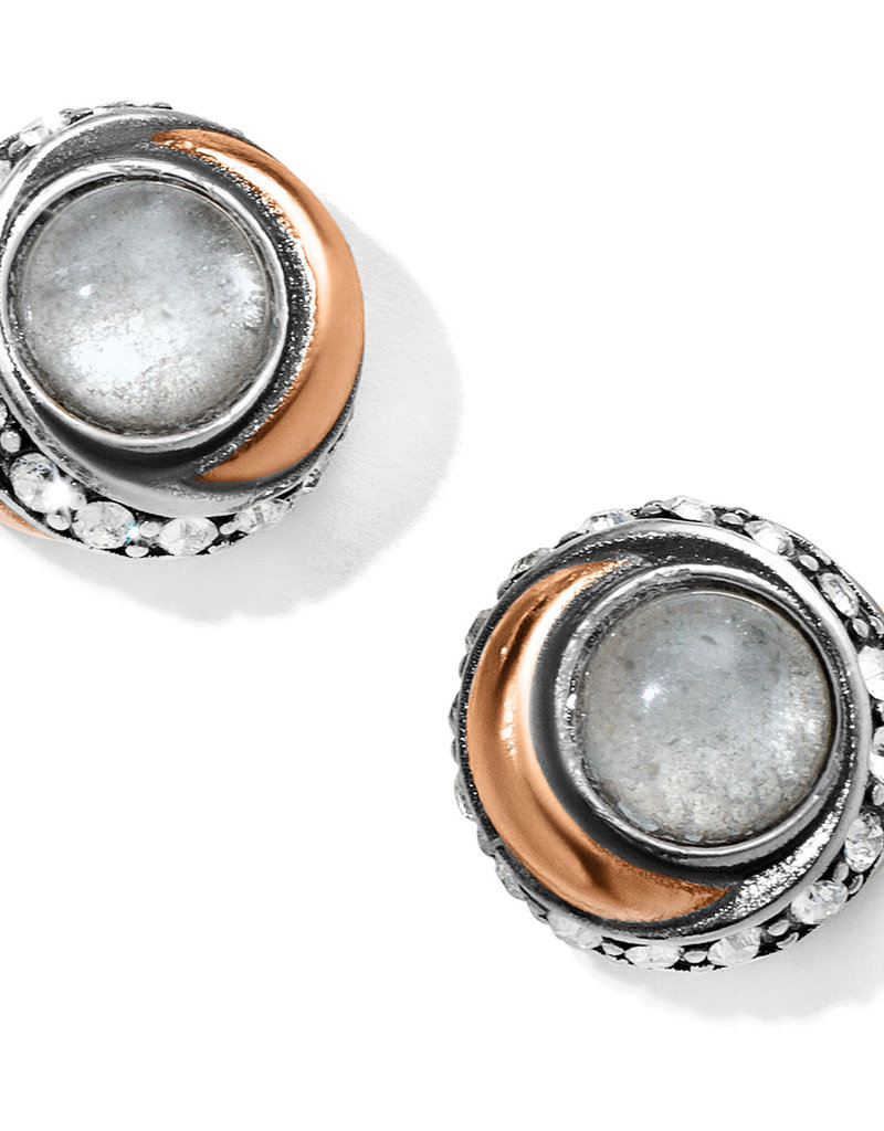 Brighton Brighton Earrings Neptune's Rings Button Post- Crystal
