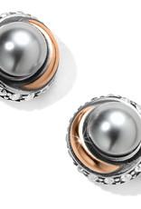 Brighton Brighton Earrings Neptune's Rings Button Post- Gray Pearl