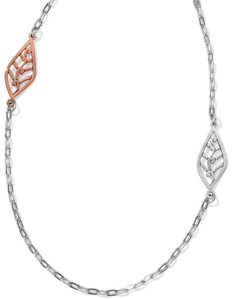 Brighton Brighton Necklace Barbados Leaves Light Long- Silver/Gold