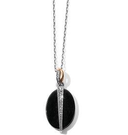 Brighton Brighton Necklace Neptune's Rings Oval Reversible Short- Black