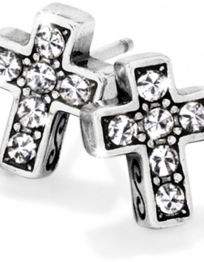 Brighton Brighton Starry Night Cross Mini Post Earrings - Silver
