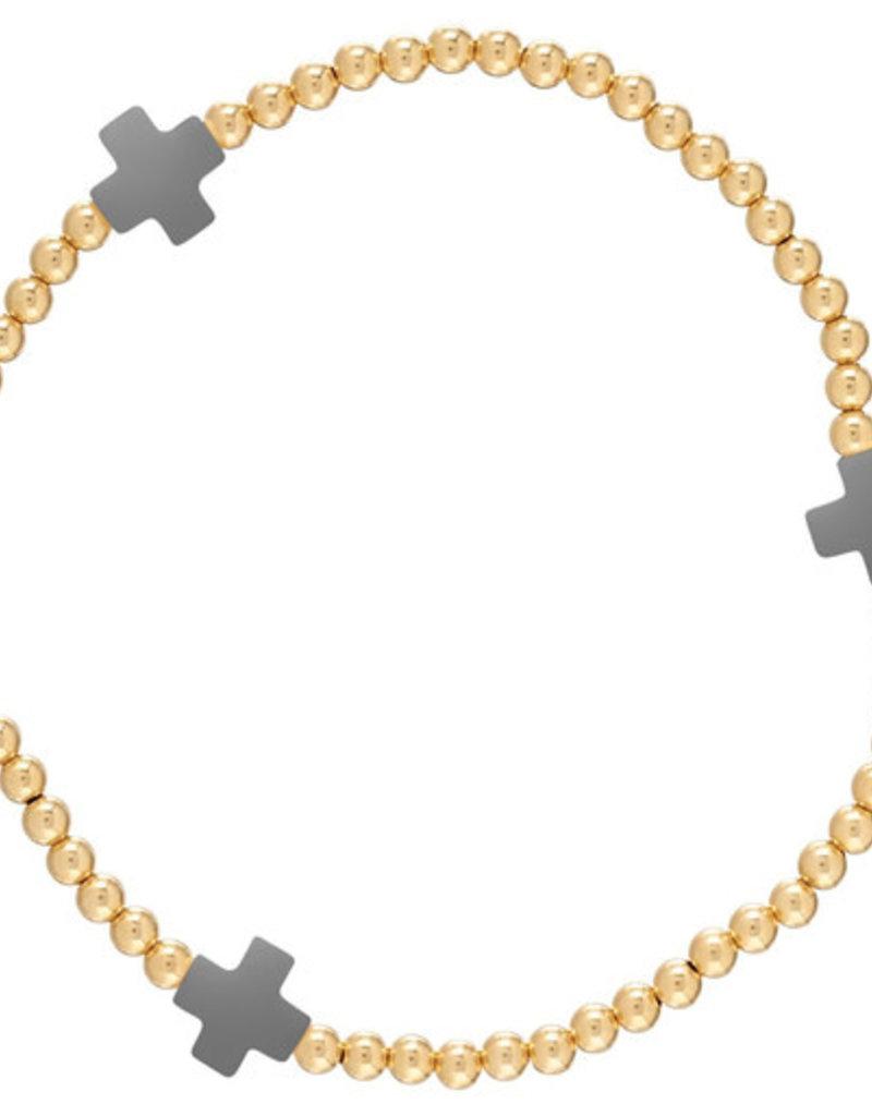 ENewton Design ENewton Signature Cross beaded Bracelet