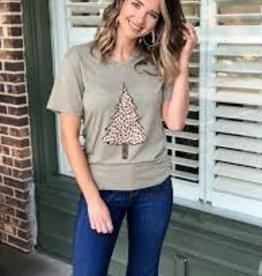 Jane Marie Jane Marie- Leopard Christmas Tree Tshirt