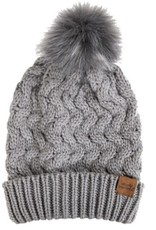 Simply Southern Simply Southern Cable knit Beanie with Poof