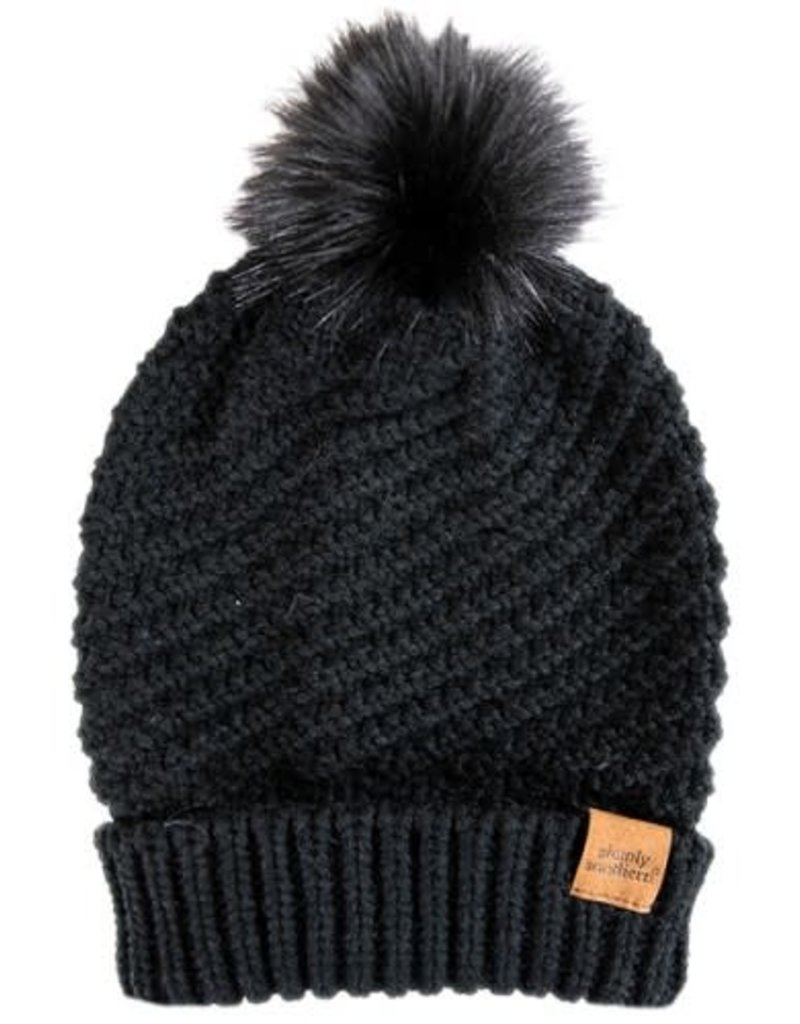 Simply Southern Simply Southern Waffle Knit Beanie with Poof