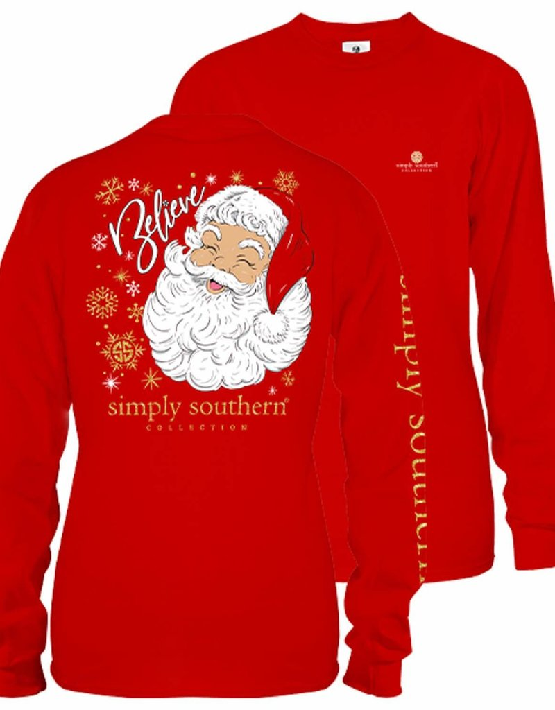 Simply Southern Simply Southern YOUTH L/S Santa Shirt