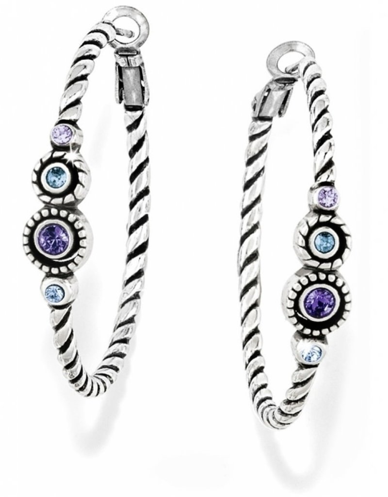 Brighton Brighton Halo Hoop Earrings- Tanzanite