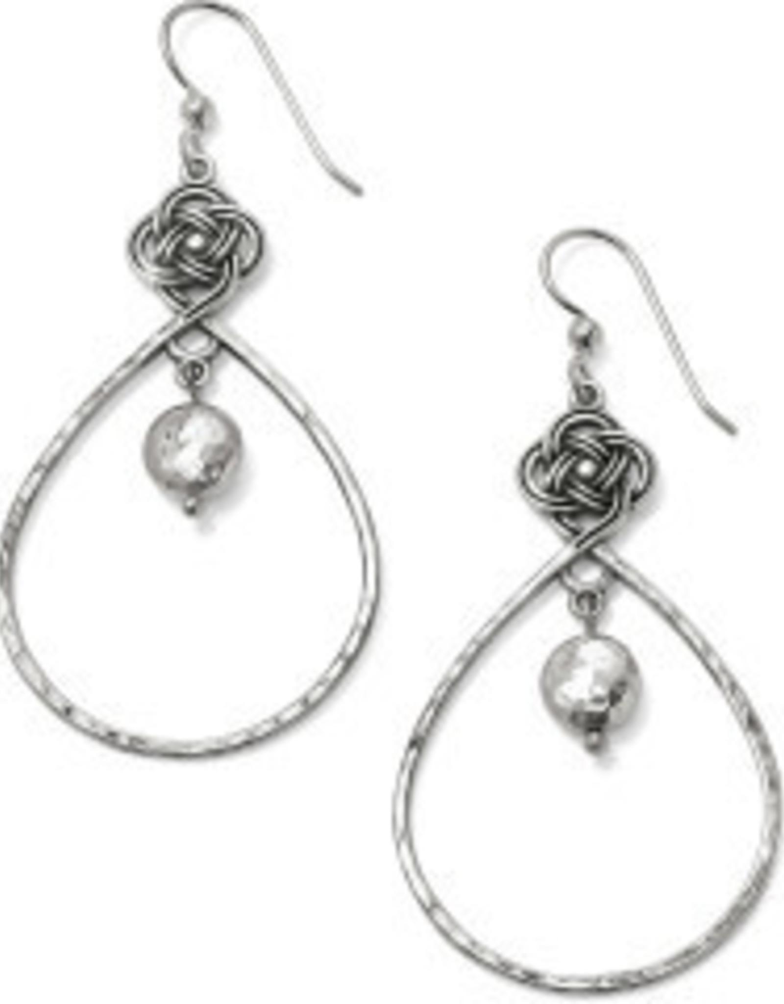 Brighton Interlok Knot Loop French wr earrings